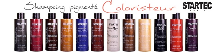 Gamme shampooing colorant Coloristeur Startec
